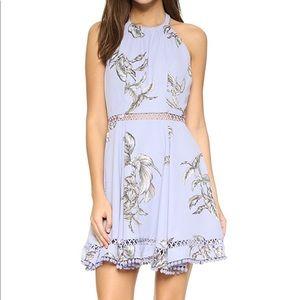 Tularosa Olivia Floral Open Back Halter Dress